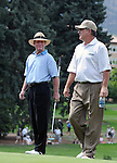 31 July 2008:  Tom Kite  (left) and Jay Haas (right) during the 1st round of the 2008 US Senior Open Championship at The Broadmoor, Colorado Springs, CO.