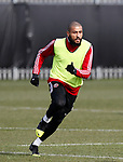 Leon Clarke of Sheffield Utd during a training session at the Steelphalt Academy, Sheffield. Picture date: 5th March 2020. Picture credit should read: Simon Bellis/Sportimage