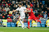 Kehedira of Real Madrid during La Liga match between Real Madrid and Sevilla at Santiago Bernabeu Stadium in Madrid, Spain. February 04, 2015. (ALTERPHOTOS/Caro Marin) /NORTEphoto.com