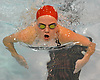 Julia Thoms, Syosset freshman, competes in the 200-yard individual medley event during a Nassau County girls swimming meet against Massapequa at Syosset High School on Tuesday, Oct. 17, 2017. She won the event with a time of 2:27.06.