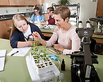 0711-34 203.CR2.College of Life Sciences.Biology.Marta Adair's Education Lab.Suzette Holyoak (light blue), Luke Talley, Anna Harmon (pink), Erika Saxey (dark Blue)..November 12, 2007..Photography by Mark A. Philbrick..Copyright BYU Photo 2007.All Rights Reserved .photo@byu.edu  (801)422-7322