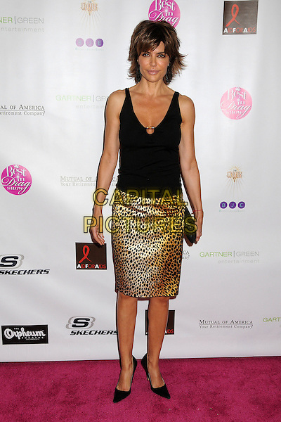 Lisa Rinna.10th Annual Best In Drag show benefiting Aid for AIDS held at the Orpheum Theatre, Los Angeles, California USA..7th October 2012.full length black sleeveless top brown leopard print skirt.CAP/ADM/BPC.©Brent Perniac/AdMedia/Capital Pictures.