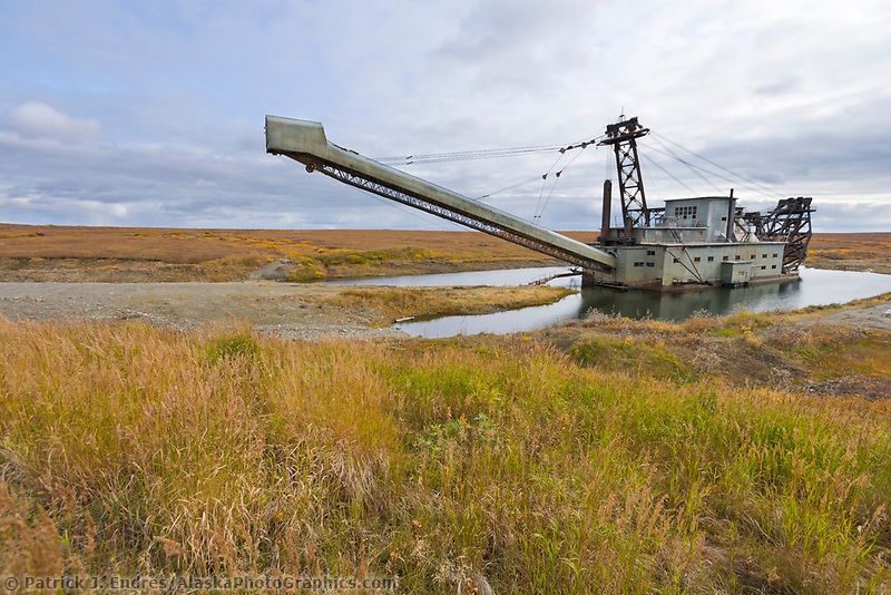 Old gold dredge in Nome, Alaska.
