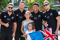 2018 Hamilton Sevens Official welcome at Garden Square in Hamilton, New Zealand on Friday, 2 February 2018. Photo: Joe Johnson / lintottphoto.co.nz