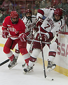 Yanni Kaldis (Cornell - 8), Nathan Krusko (Harvard - 13), Eddie Ellis (Harvard - 7) - The Harvard University Crimson defeated the visiting Cornell University Big Red on Saturday, November 5, 2016, at the Bright-Landry Hockey Center in Boston, Massachusetts.