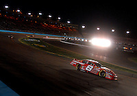 Apr 22, 2006; Phoenix, AZ, USA; Nascar Nextel Cup driver Dale Earnhardt Jr. of the (8) Budweiser Chevrolet Monte Carlo leads Matt Kenseth during the Subway Fresh 500 at Phoenix International Raceway. Mandatory Credit: Mark J. Rebilas-US PRESSWIRE Copyright © 2006 Mark J. Rebilas