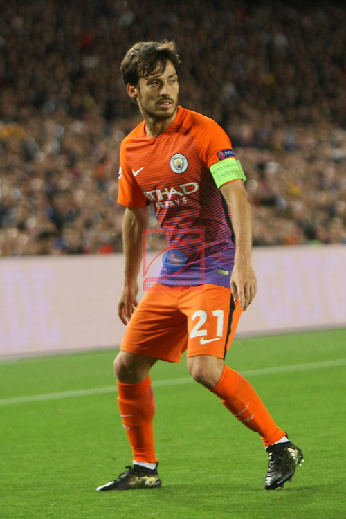 UEFA Champions League 2016/2017 - Matchday 3.<br /> FC Barcelona vs Manchester City FC: 4-0.<br /> David Silva.