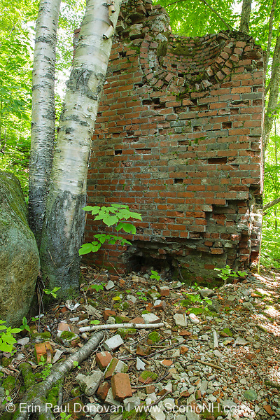 Remnants of the powerhouse in the ghost town of Livermore. This was a logging village in the late 19th and early 20th centuries along the Sawyer River Railroad in Livermore, New Hampshire. The Saunders family owned both the town and railroad.