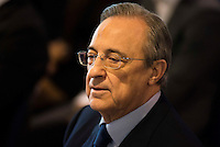 Real Madrid's president Florentino Perez during the renews of Cristiano Ronaldo's contract with Real Madrid until 2021 at Santiago Bernabeu Stadium in Madrid. November , 2016. (ALTERPHOTOS/Borja B.Hojas) ///NORTEPHOTO.COM