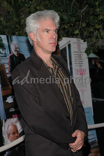 27 July 2005 - New York, New York - Writer/Director Jim Jarmusch arrives at the premiere of his new film, &quot;Broken Flowers&quot;, at the Chelsea West Cinema in Manhattan.  <br />