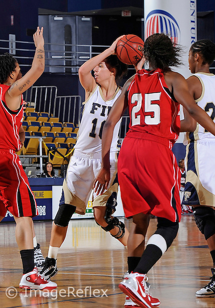 Florida International University guard Fanni Hutlassa (10) plays against the University of Louisiana Lafayette.  FIU won the game 62-52 on February 9, 2011 at Miami, Florida. .