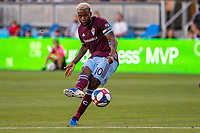 SAN JOSÉ CA - JULY 27: Kellyn Acosta #10 during a Major League Soccer (MLS) match between the San Jose Earthquakes and the Colorado Rapids on July 27, 2019 at Avaya Stadium in San José, California.
