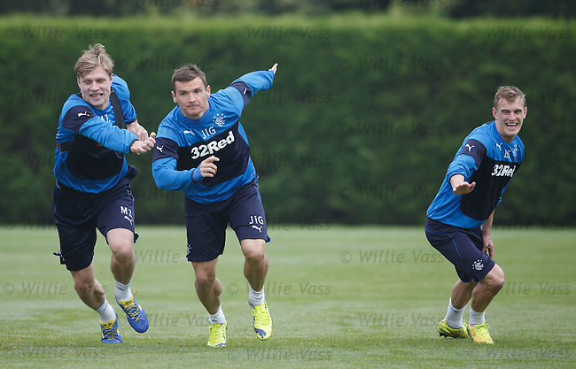 Marius Zaliukas , Lee McCulloch and Dean Shiels