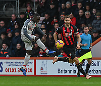 Liverpool's Naby Keita (left) under pressure from Bournemouth's Simon Francis (right) <br /> <br /> Photographer David Horton/CameraSport<br /> <br /> The Premier League - Bournemouth v Liverpool - Saturday 8th December 2018 - Vitality Stadium - Bournemouth<br /> <br /> World Copyright © 2018 CameraSport. All rights reserved. 43 Linden Ave. Countesthorpe. Leicester. England. LE8 5PG - Tel: +44 (0) 116 277 4147 - admin@camerasport.com - www.camerasport.com