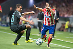 Atletico de Madrid's Yannick Carrasco and Chelsea's Cesar Azpilicueta during UEFA Champions League match between Atletico de Madrid and Chelsea at Wanda Metropolitano in Madrid, Spain September 27, 2017. (ALTERPHOTOS/Borja B.Hojas)