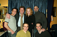 ***Jan Maxwell has passed away at the age of 61 after a long battle with cancer***<br /> ***FILE PHOTO*** British stage legend Michael Ball visits the cast of the Broadway musical Chitty Chitty Bang Bang backstage, after taking in a Sunday matinee at the Hilton Theatre in New York City. Pictured: Raul Esparza, Michael Ball, Jan Maxwell, Marc Kudisch and sitting Chip Zien and Robert Sella. May 8,  2005 <br /> CAP/MPI/JOM<br /> &copy;JOM/MPI/Capital Pictures