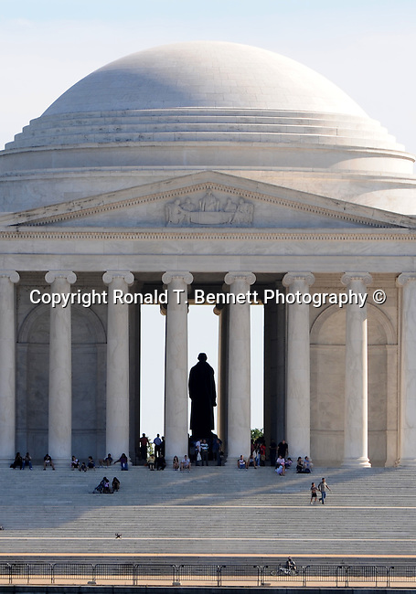 The Thomas Jefferson Memorial Washington D.C.,The Thomas Jefferson Memorial, Jefferson memorial, Presidential Memorial in Washington DC, Thomas Jefferson, American founding Father, Third President of the United States, neoclassical, Designed by John Russell Pope, Philadelphia, done, portico, Tidal, Basin, Potomac River, West Potomac Park, Washington monument, National Mall and Memorial Parks, List of America's Favorite Architecture, American Institute of Architects, U.S. National Register of Historic Places, U.S. National Memorial, Washington D.C., Ron Bennett Photography, Stock Photography, Fine Art Photography, Fine Art Photography by Ron Bennett, Fine Art, Fine Art photo, Art Photography,