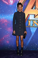 Letitia Wright arriving for the &quot;Avengers: Infinity War&quot; fan event at the London Television Studios, London, UK. <br /> 08 April  2018<br /> Picture: Steve Vas/Featureflash/SilverHub 0208 004 5359 sales@silverhubmedia.com