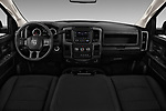 Stock photo of straight dashboard view of 2017 Ram Ram 3500 Tradesman Crew Cab Long 4 Door Pick Up