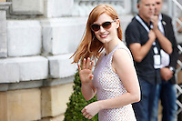 Actress Jessica Chastain arrives to Maria Cristina Hotel during the 62st San Sebastian Film Festival in San Sebastian, Spain. September 22, 2014. (ALTERPHOTOS/Caro Marin)