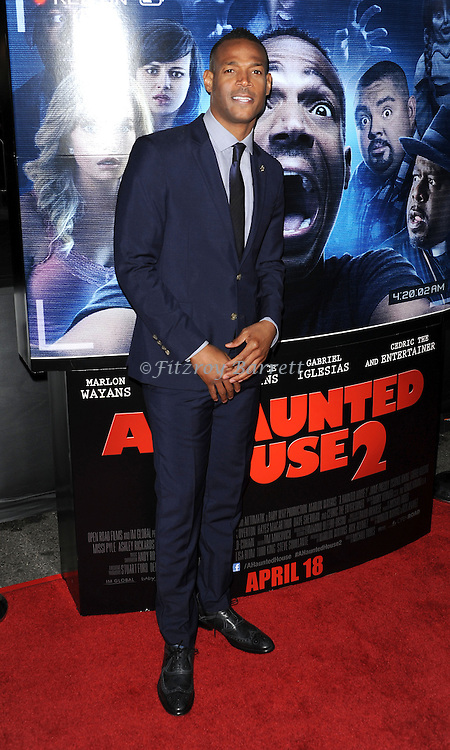 Marlon Wayans arriving at 'A Haunted House 2 Los Angeles Premiere' held at Regal Cinemas L.A. Live Los Angeles, CA. April 16, 2014.