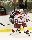Matt Reber (Dartmouth - 10), Alex Biega (Harvard - 3) - The Harvard University Crimson defeated the Dartmouth College Big Green 4-1 (EN) on Monday, January 18, 2010, at Bright Hockey Center in Cambridge, Massachusetts.