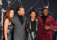 "LOS ANGELES, USA. October 30, 2019: Rebecca Ferguson, Ewan McGregor, Kyliegh Curran & Zackary Momoh at the US premiere of ""Doctor Sleep"" at the Regency Village Theatre.<br /> Picture: Paul Smith/Featureflash"