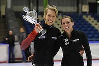 SCHAATSEN: HEERENVEEN: 20-12-2014, IJsstadion Thialf, Trainingswedstrijd schaatsen, 1000m Jorrit Bergsma (1:14.30)/Heather Richardson (1:17.22), ©foto Martin de Jong
