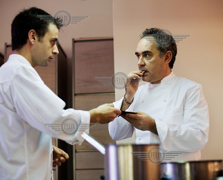 Ferran Adria the creator of the restaurant el Bulli. Once considered the finest gastronomic experience the world could offer, it was closed on 30 July 2011.