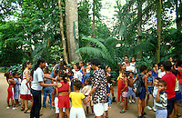 School pupil visiting the Goeldi Museum with botanical garden of Belem