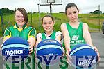Summer fun at the Team Kerry Basketball Camp. .L-R Tara Pierse, Ashleigh Murphy and Shauna Baitson