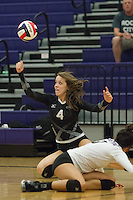 Cedar Ridge's Macy Harris is unable to return the ball against Round Rock Tuesday.  The Lady Raiders lost to Round Rock in four games at home.  (LOURDES M SHOAF for Round Rock Leader.)