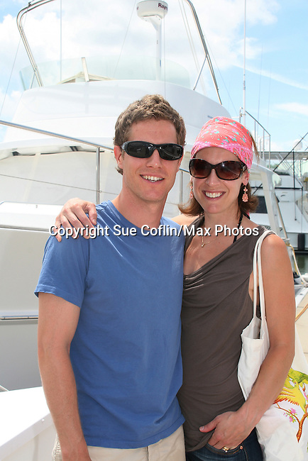 As The World Turns' Eric Sheffer Stevens and wife Jenny at 12th Annual SoapFest - Actors take a break on the Ramblin' Rose with Ken as the captain on May 15, 2010 on Marco Island, FLA. (Photo by Sue Coflin/Max Photos)