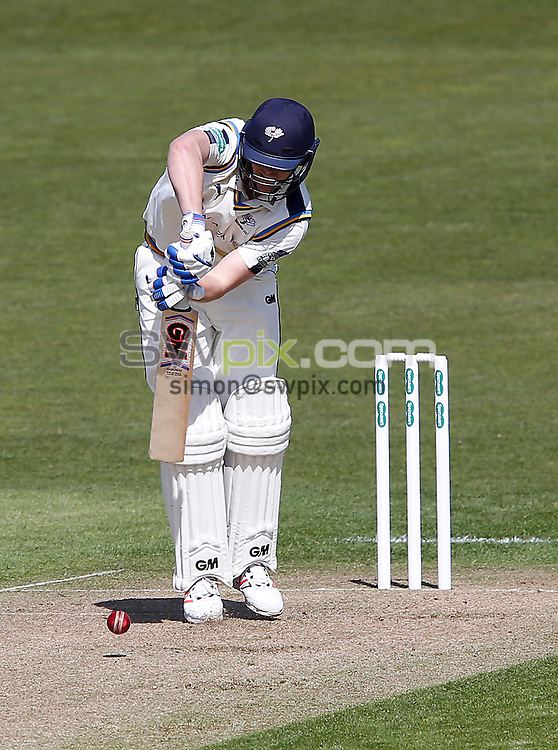 Picture by John Clifton/SWpix.com - 17/04/2016 - Cricket - Specsavers County Championship Division One - Yorkshire CCC v Hampshire CCC, Day 1 - Headingley Cricket Ground, Leeds, England - Alex Lees of Yorkshire