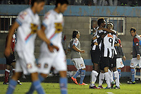 BUENOS AIRES, ARGENTINA, 26 FEVEREIRO 2013 - TACA LIBERTADORES - ATLÉTICO MG X ARSENAL SARANDÍ - Jo (E) do Atlético MG comemora seu gol durante partida contra o Arsenal Sarandí da Argentina, no Estádio Julio Grondona em Buenos Aires, capital da Argentina, nesta terça-feira, 26. (FOTO: JUANI RONCORONI / BRAZIL PHOTO PRESS).