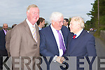 Minister for Education Batt O'Keeffe, John O'Donoghue TD meet former Coolick NS pupil and former Government minister John O'Leary at the opening of new extension in Coolick NS on Friday morning