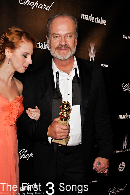 Kelsey Grammar and Kayte Walsh attend the 2012 Weinstein Company Golden Globes After Party at The Beverly Hilton Hotel in Beverly Hills, CA on January 15, 2012.