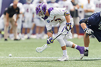 TD Ierlan (#3) wins a faceoff as Yale defeats UAlbany 20-11 in the NCAAA semifinal game at Gillette Stadium, May 26.