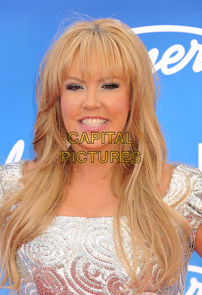 "Mary Murphy.arriving at FOX's ""American Idol"" Grand Finale at Nokia Theatre L.A. Live in Los Angeles, California, USA,.May 16th 2013..portrait headshot smiling  silver patterned dress .CAP/ROT/TM.©Tony Michaels/Roth Stock/Capital Pictures"