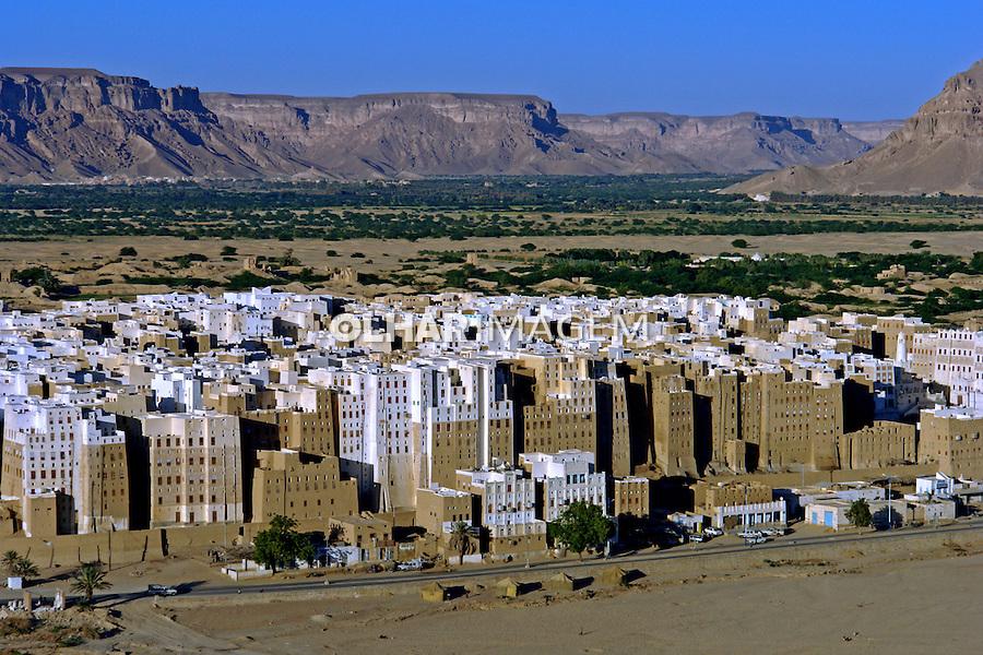 Edificios da cidade de Shibam. Yemen. 2008. Foto de Caio Vilela.
