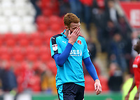 Cian Bolger of Fleetwood Town after the Sky Bet League 1 match between Rotherham United and Fleetwood Town at the New York Stadium, Rotherham, England on 7 April 2018. Photo by Leila Coker.
