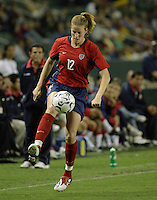 Cindy Parlow, USWNT vs. Costa Rica, September 1, 2003..