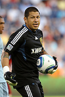 Real Salt Lake goalkeeper Nick Rimando... Sporting Kansas City defeated Real Salt Lake 2-0 at LIVESTRONG Sporting Park, Kansas City, Kansas.