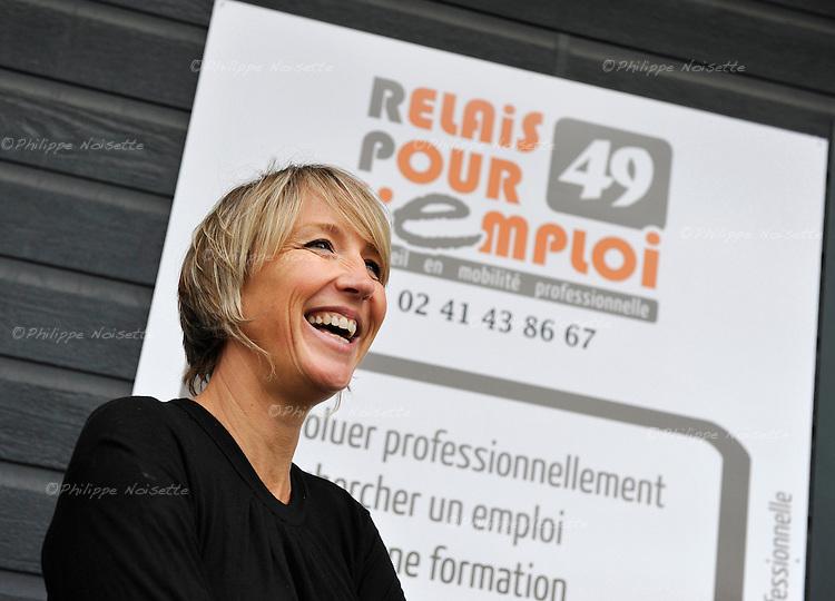 """Nathalie Auger, coordinatrice des trois antennes de """"Relais pour l'Emploi"""" (Trélazé, Cholet et Saumur)."""