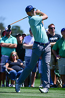 Jordan Spieth (USA) watches his tee shot on 3 during round 1 of the Shell Houston Open, Golf Club of Houston, Houston, Texas, USA. 3/30/2017.<br /> Picture: Golffile | Ken Murray<br /> <br /> <br /> All photo usage must carry mandatory copyright credit (&copy; Golffile | Ken Murray)