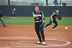 DENTON TX - APRIL 7: The University of North Texas Mean Green Softball v Saint Marys At Lovelace Field in Denton on April 7, 2019, in Denton Texas.