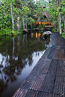 Sacha Lodge, an Amazon Rainforest lodge near Coca in Euador, South America