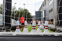 20190829 - LEUVEN , BELGIUM : Belgian fan village pictured before the female soccer game between the Belgian Red Flames and England , The Lionesses , a friendly womensoccer game in the preparation for the European Championship qualification round in group H for England 2021, Tuesday 29 th August 2019 at the King Power Stadion Den Dreef in Leuven , Belgium. PHOTO SPORTPIX.BE | SEVIL OKTEM