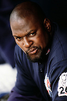 Mo Vaughn of the Anaheim Angels during a game circa 1999 at Angel Stadium in Anaheim, California. (Larry Goren/Four Seam Images)