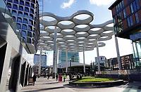Nederland Utrecht 2018.  Glazen overkapping tussen Hoog Catharijne en Station Utrecht CS.  Foto Berlinda van Dam / Hollandse Hoogte